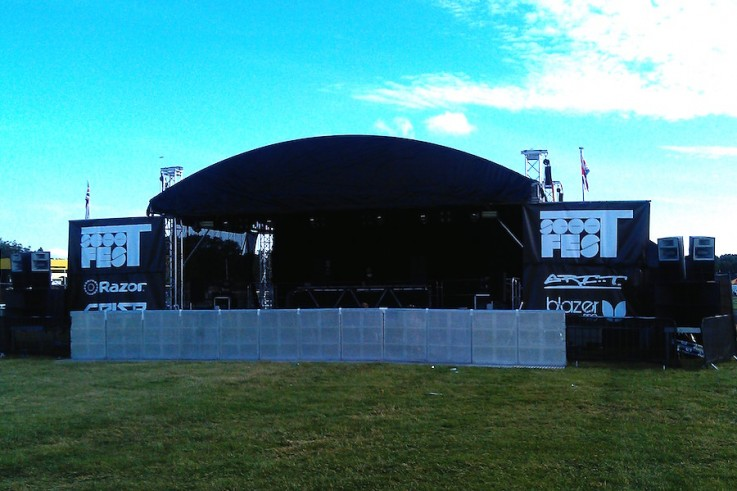 10x8 arc roof stage hire bristol