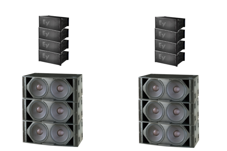 Electro Voice XLE181 9KW Line array Sound System