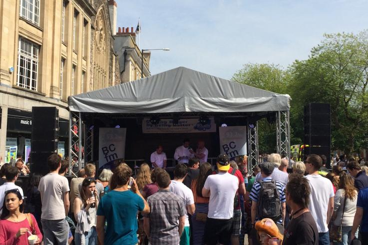 gable stage bristol hire park st event
