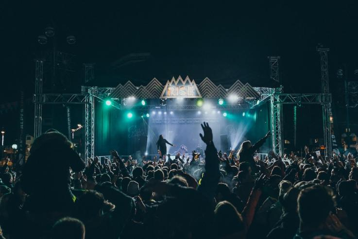 rise festival main stage production