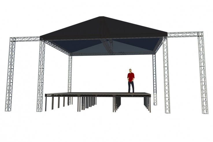 okoru event hire large stage music structure truss bristol