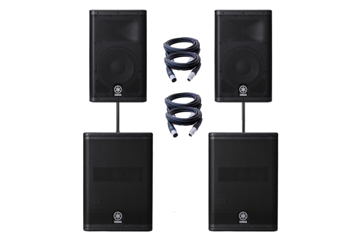 Yamaha-DXr15-with-subs-bristol-hire
